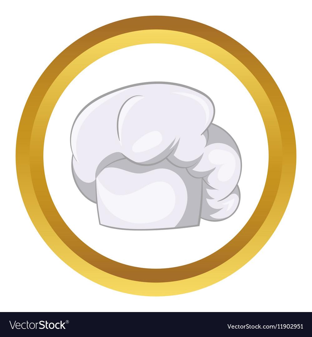 White chef hat icon vector image