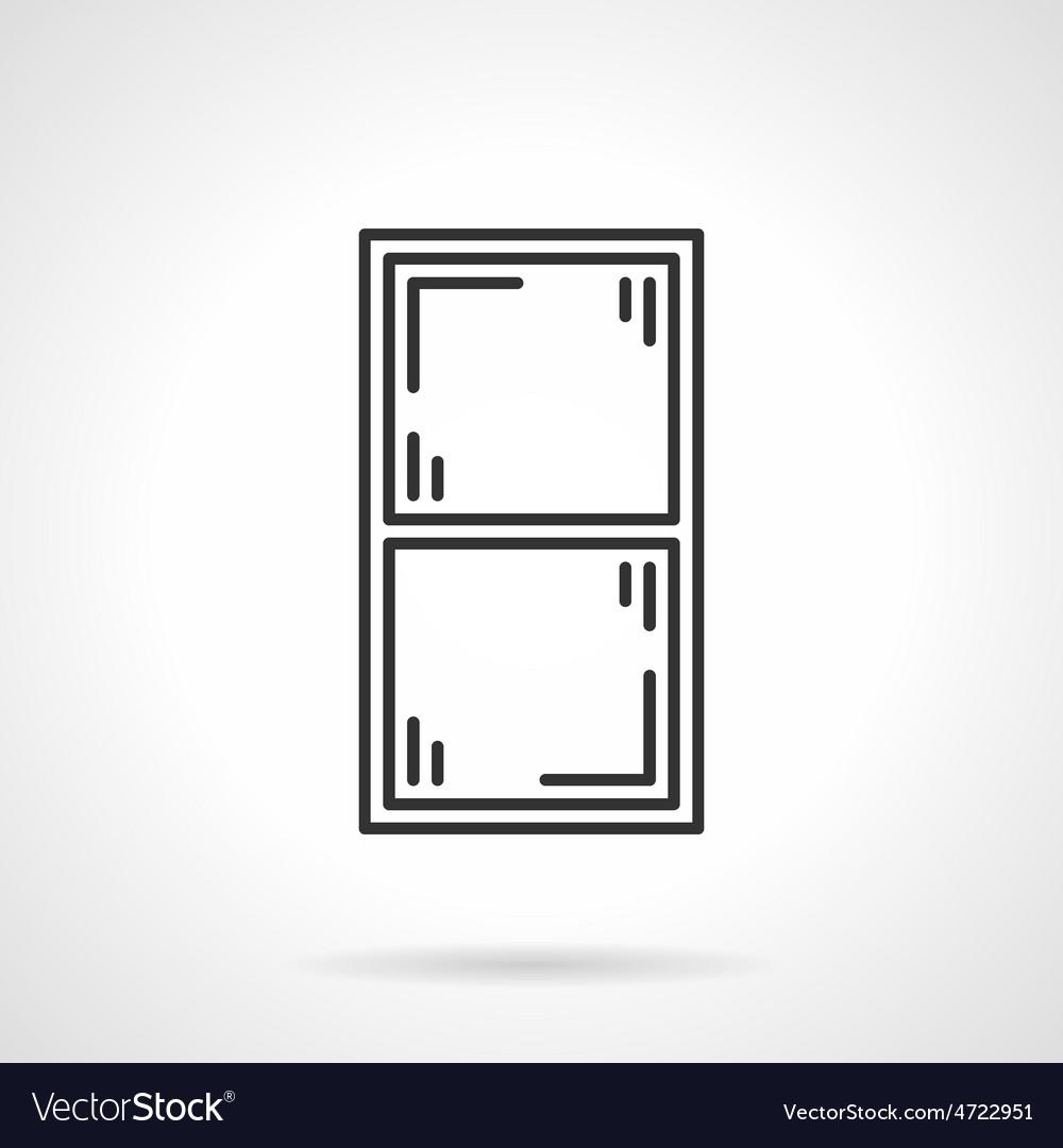 Window frame black line icon