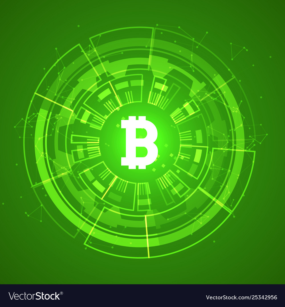 Bitcoin conceptual glowing background crypto