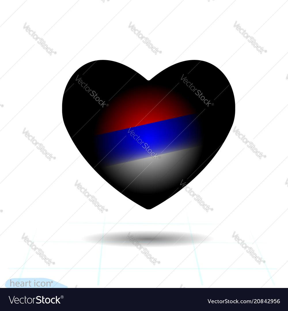 Black heart for valentine s day russia
