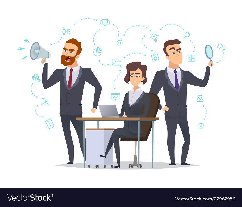 Business Team Success Office Managers Coworking Vector Image