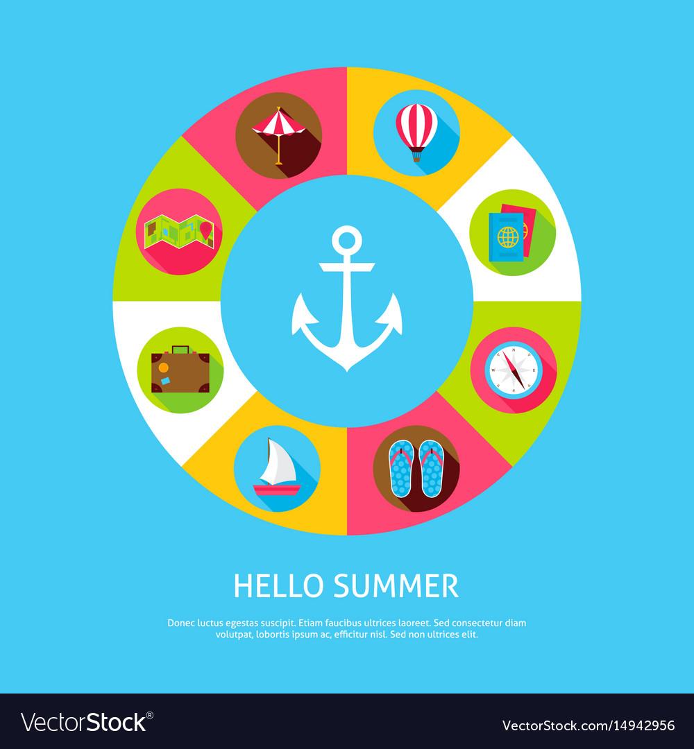 Concept hello summer