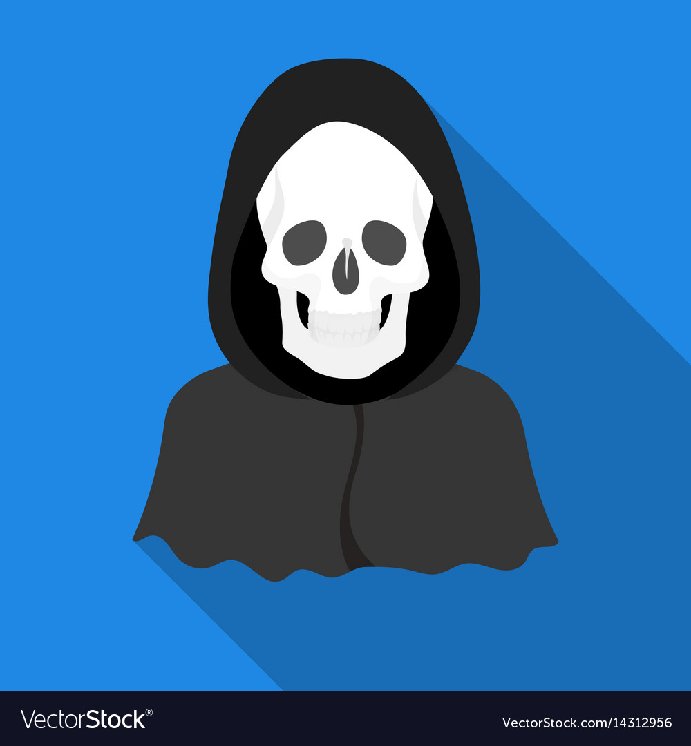 Death icon in flat style isolated on white