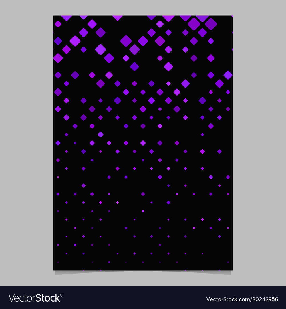 Diagonal square pattern brochure template - tile