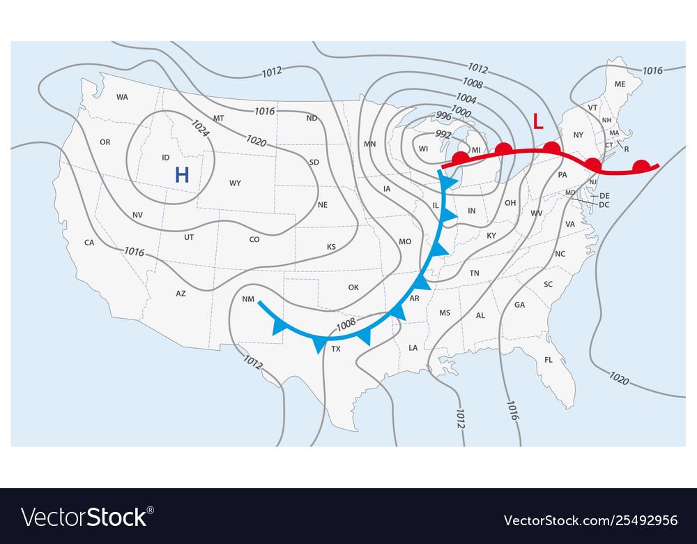 Imaginary weather map united states