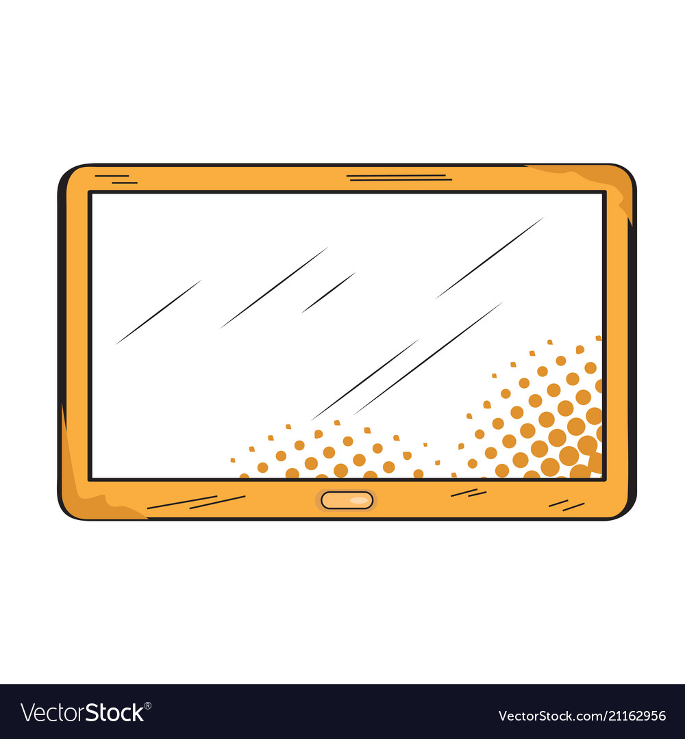 Isolated retro tablet icon