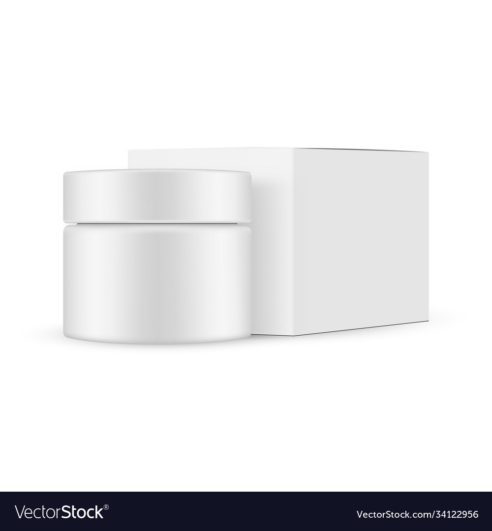 Jar and square box mockup with side view