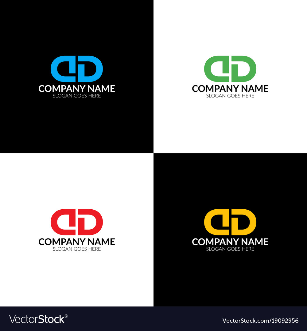 Letter d and d logo icon