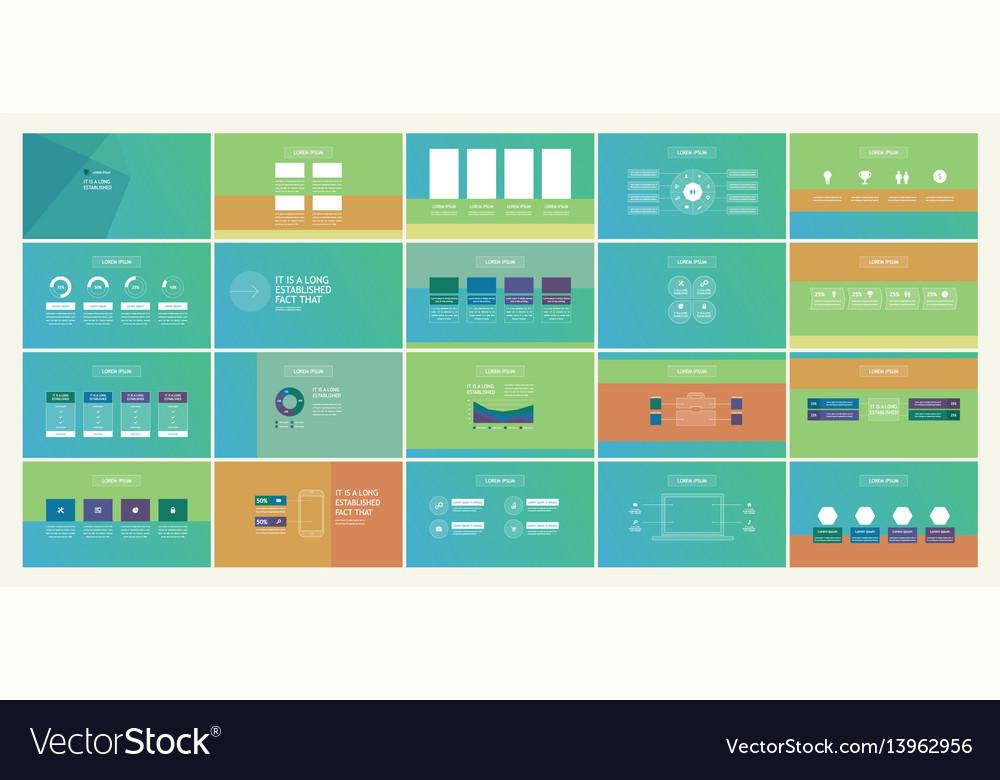 Professional design business presentation vector image