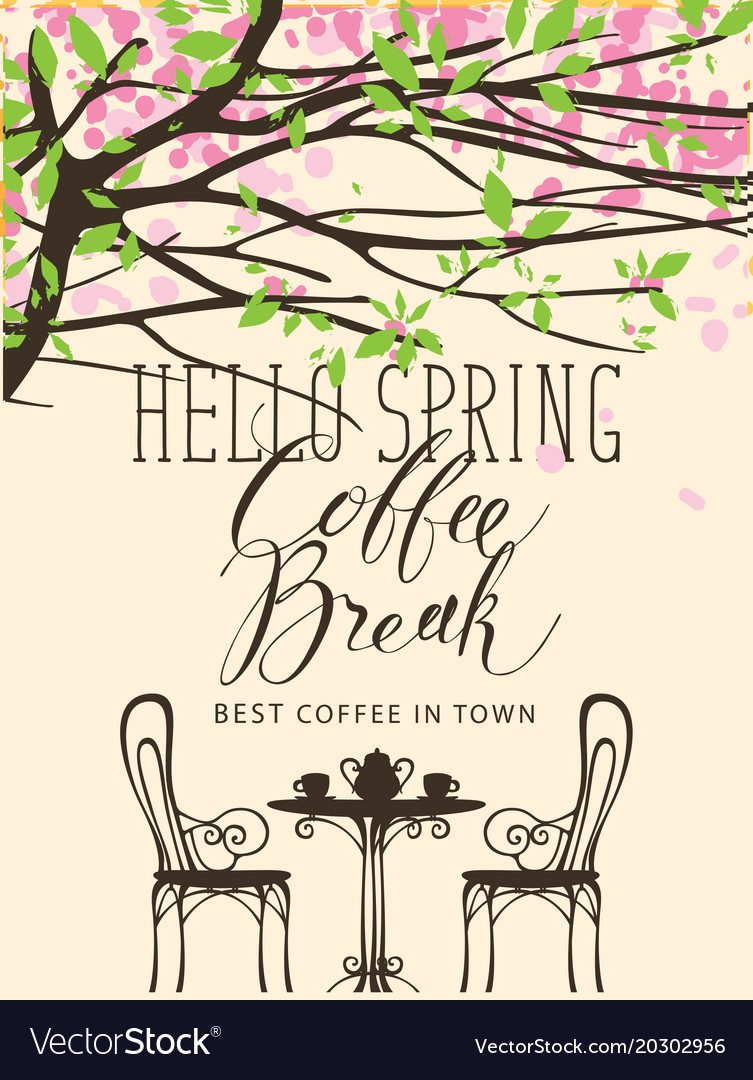 Spring banner for the best in town coffee