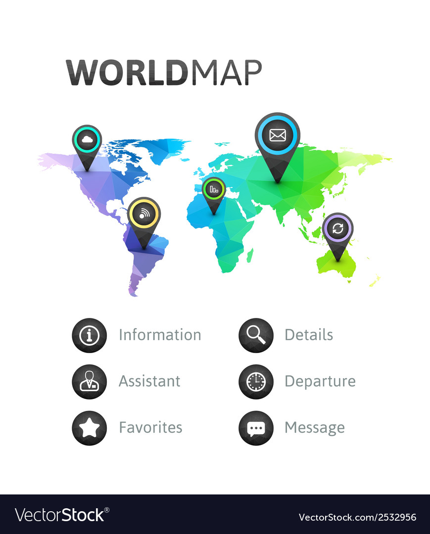 World map infographic of rainbow color royalty free vector world map infographic of rainbow color vector image gumiabroncs Gallery