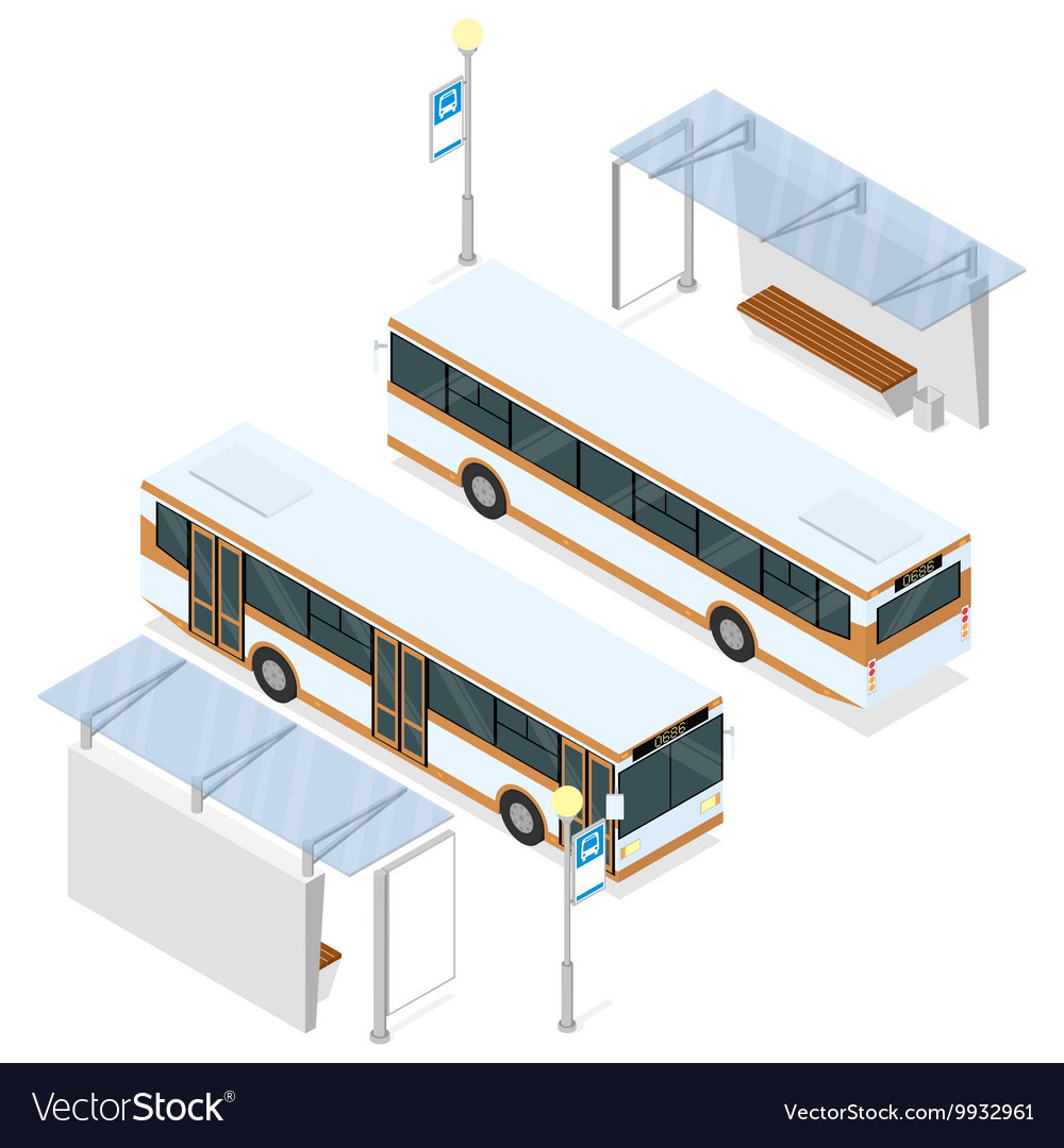 Bus and shelter