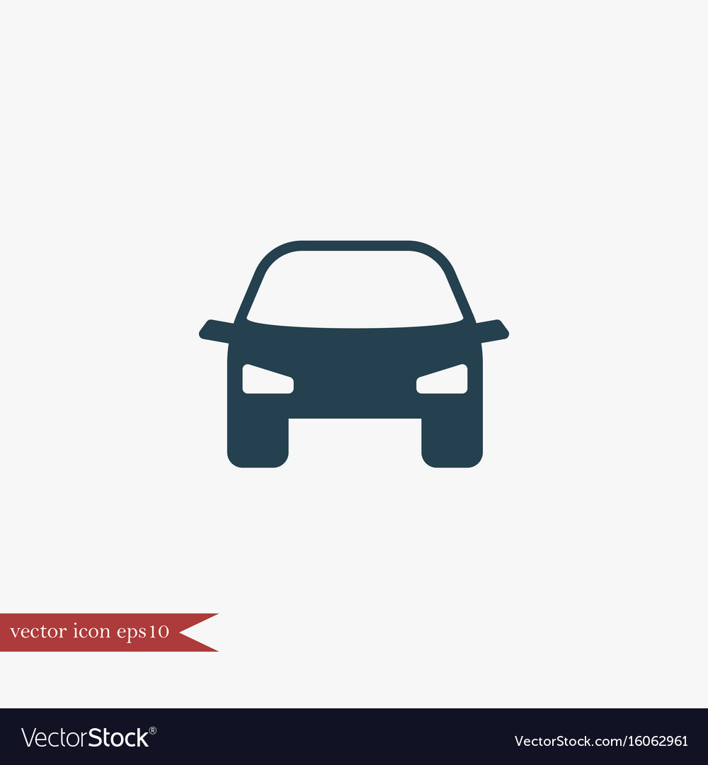 Car transport icon simple