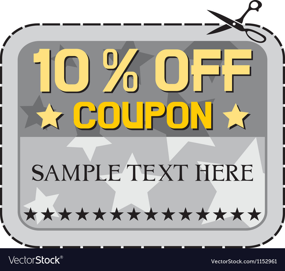 Coupon sale -ten percent discount