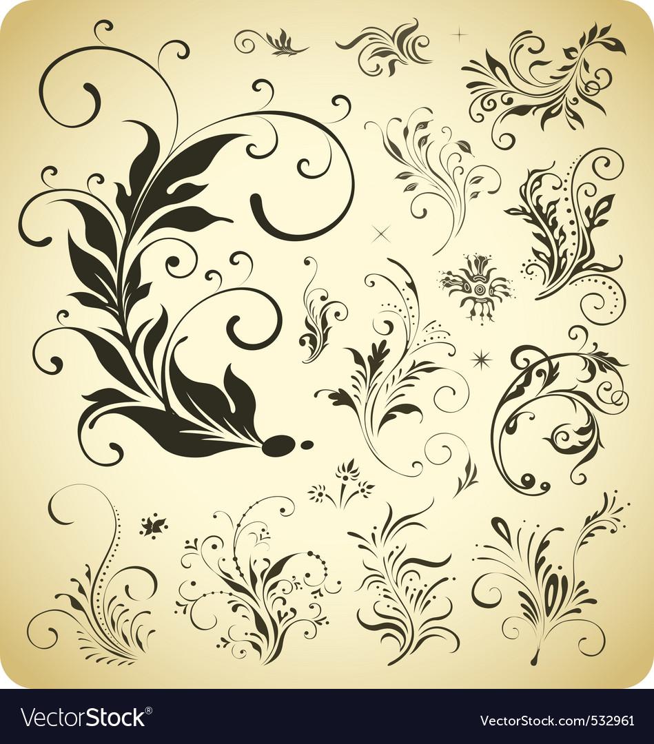 Design ornament elements vector image