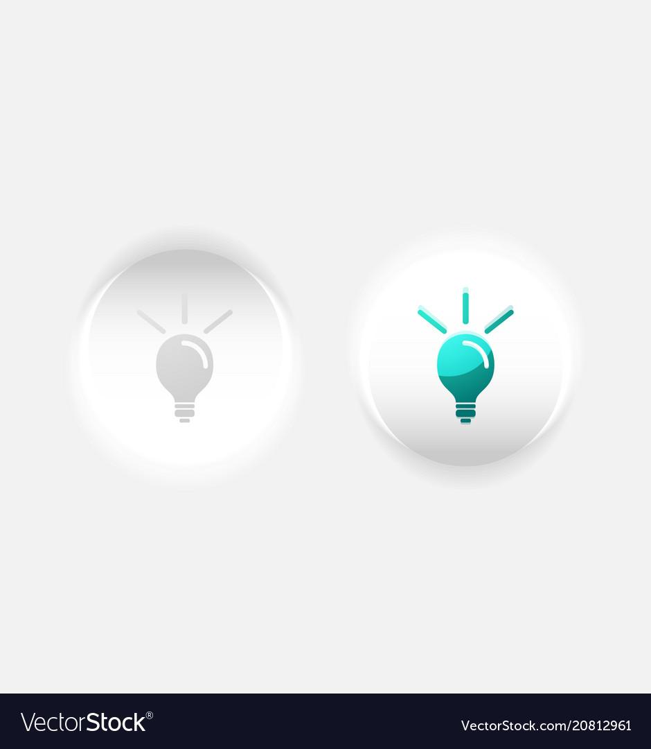 Light bulb new idea concept web button