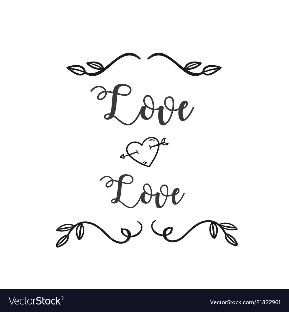 Love love heart arrow grass white background