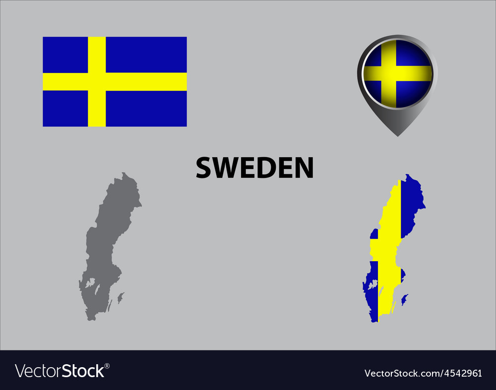 Map of Sweden and symbol