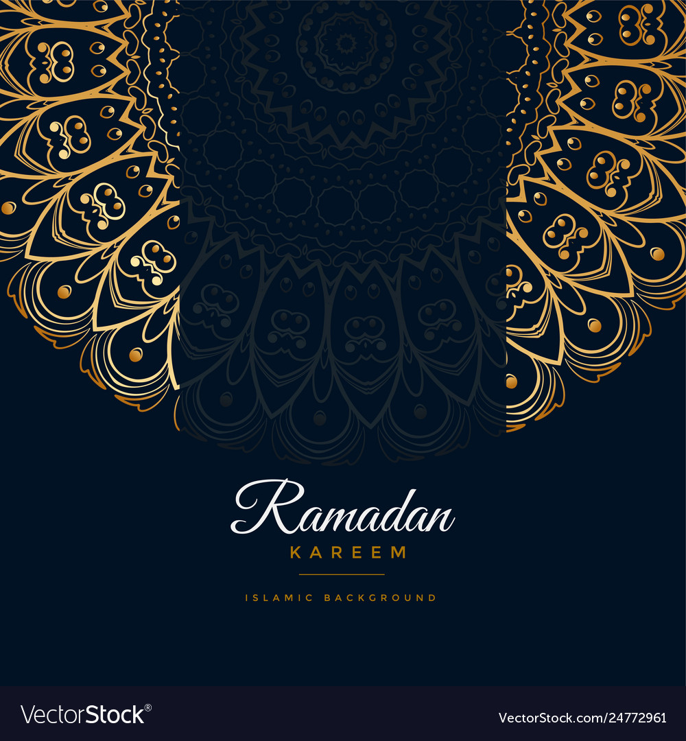 Ramadan kareem islamic mandala pattern background Vector Image
