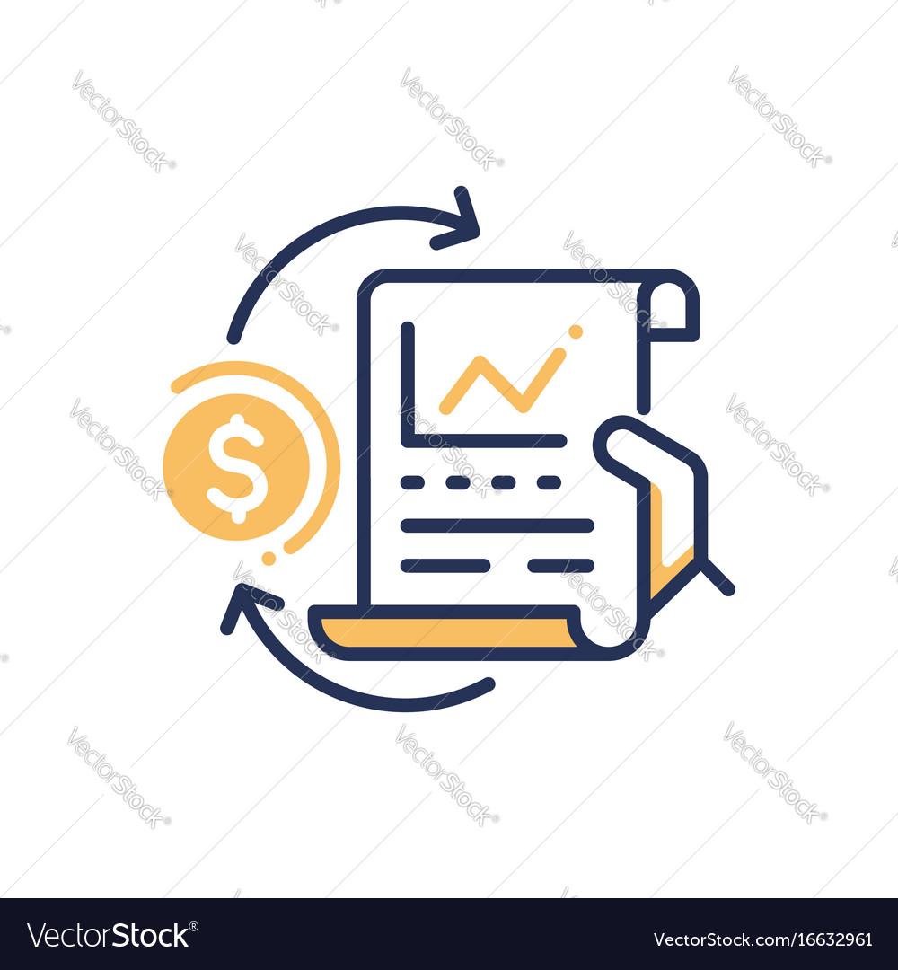 Stock Exchange Modern Line Design Icon Vector Image