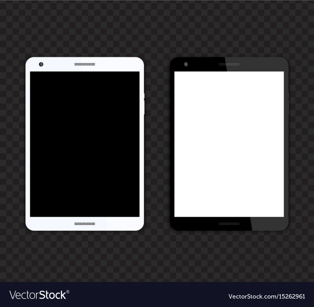 Tablet mockups with blank screens