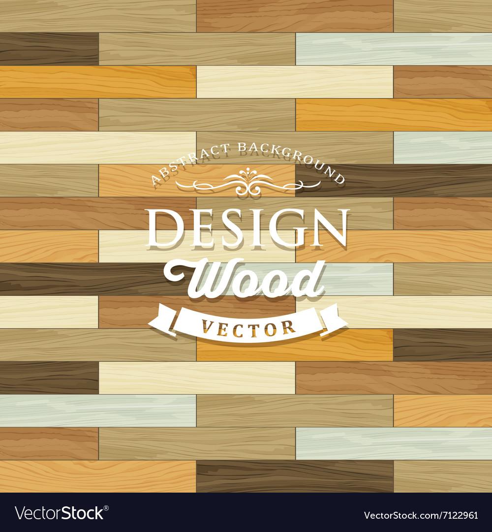 Vintage Tile wood floor striped concept vector image