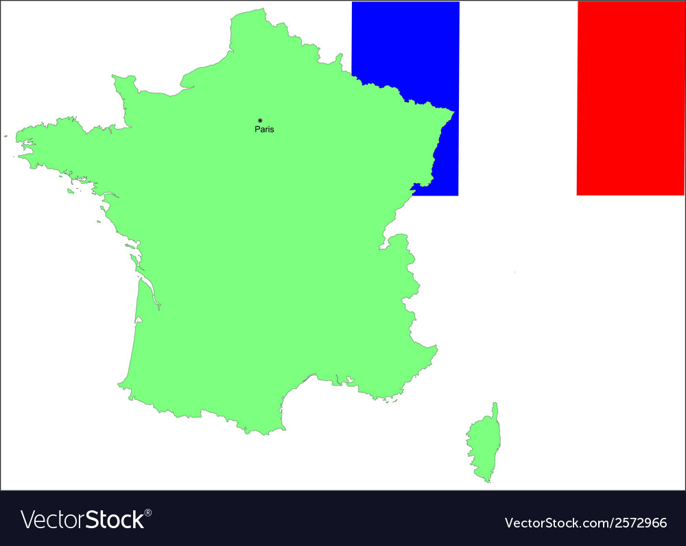 France Map Flag.6145 France Map And Flag Royalty Free Vector Image