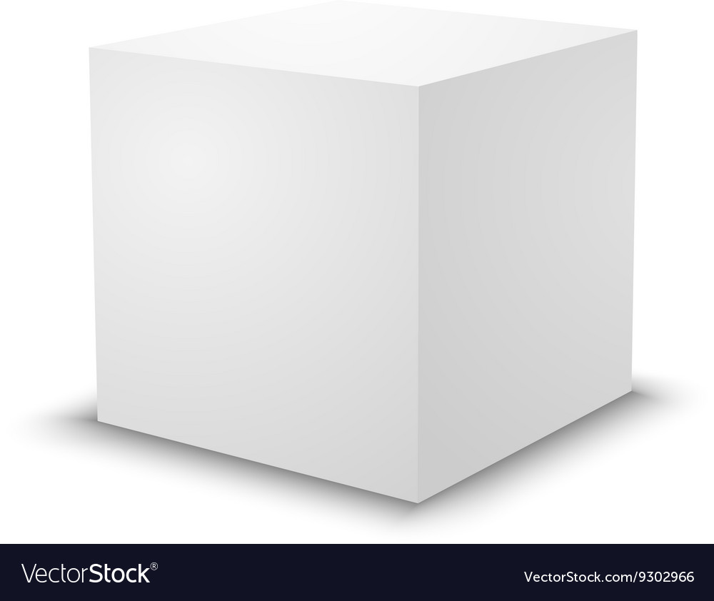 Blank White Cube 3d Box Template Royalty Free Vector Image