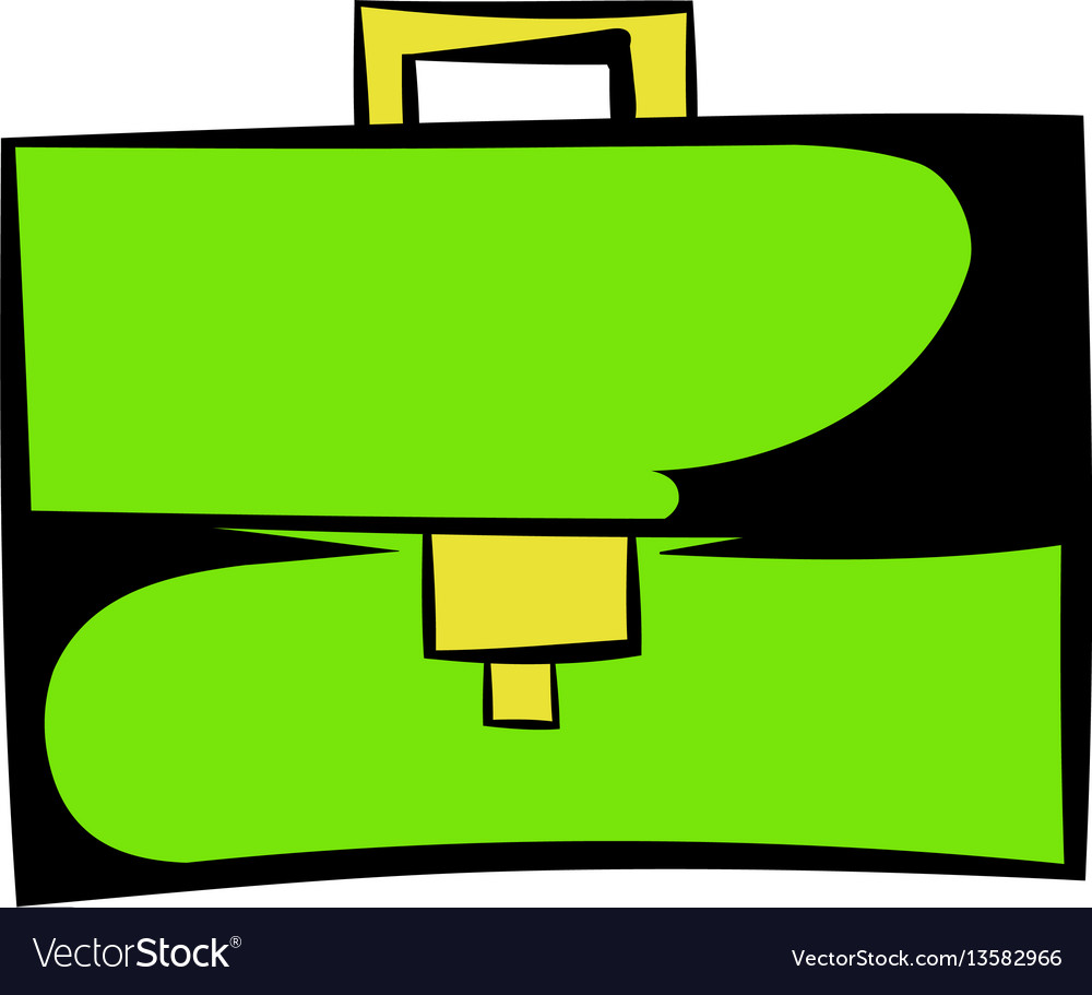 Briefcase icon cartoon