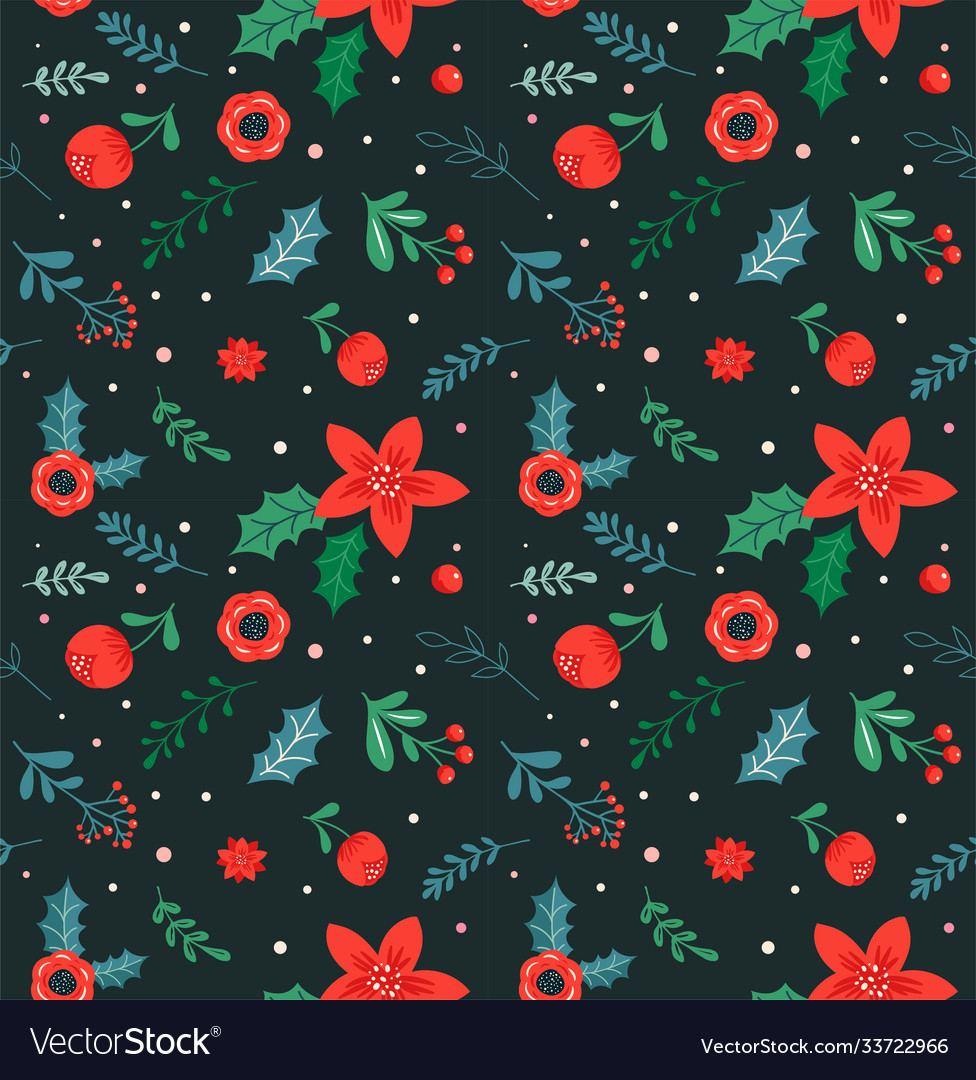 Christmas seamless pattern and abstract background