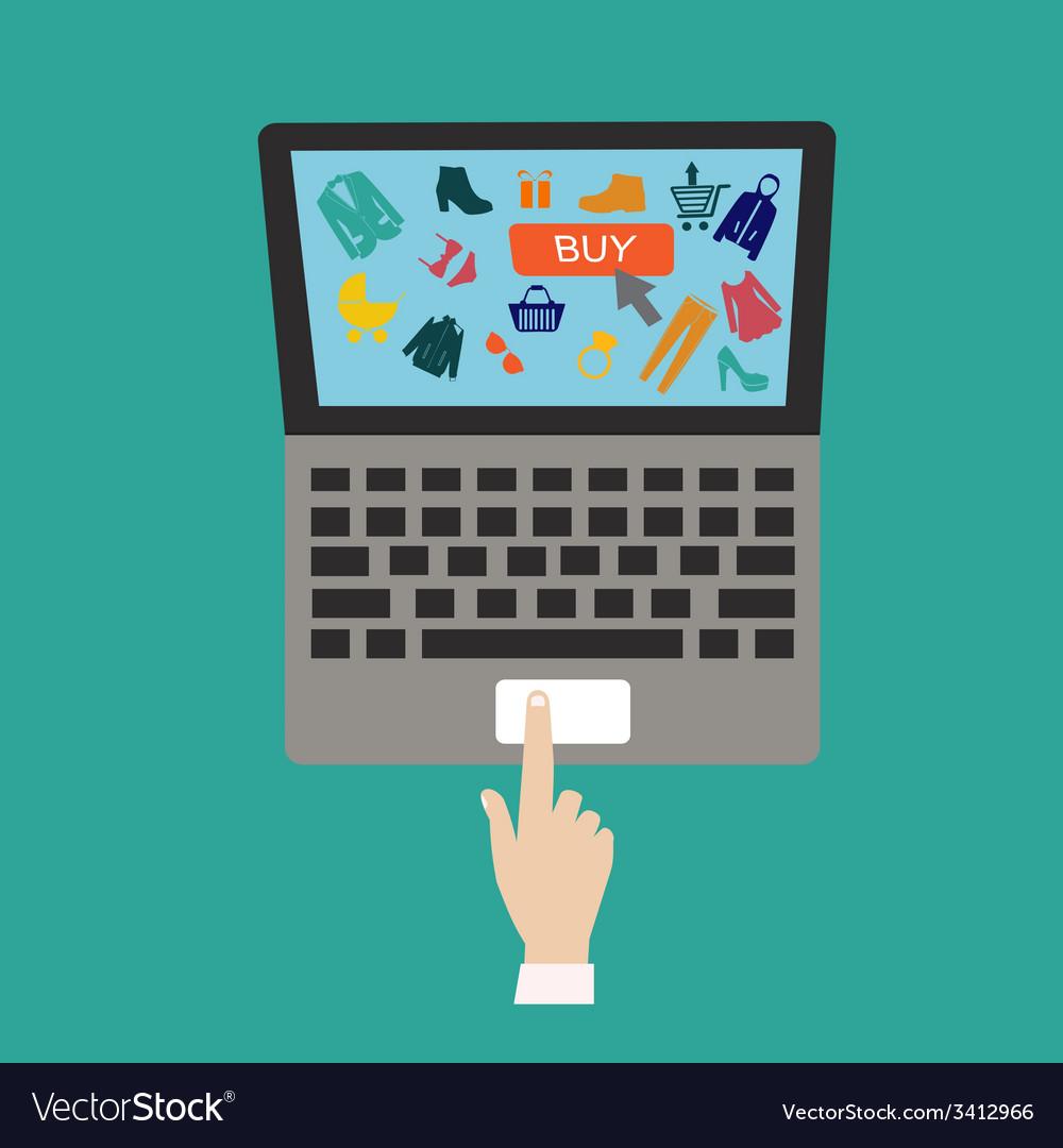 Flat internet shopping vector image