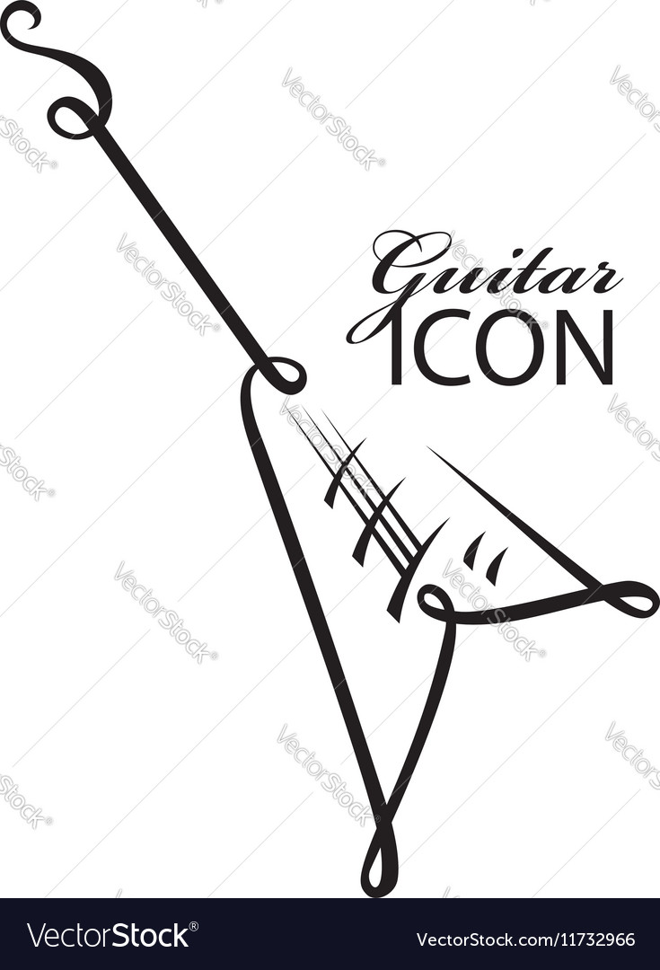 Icon with electric guitar