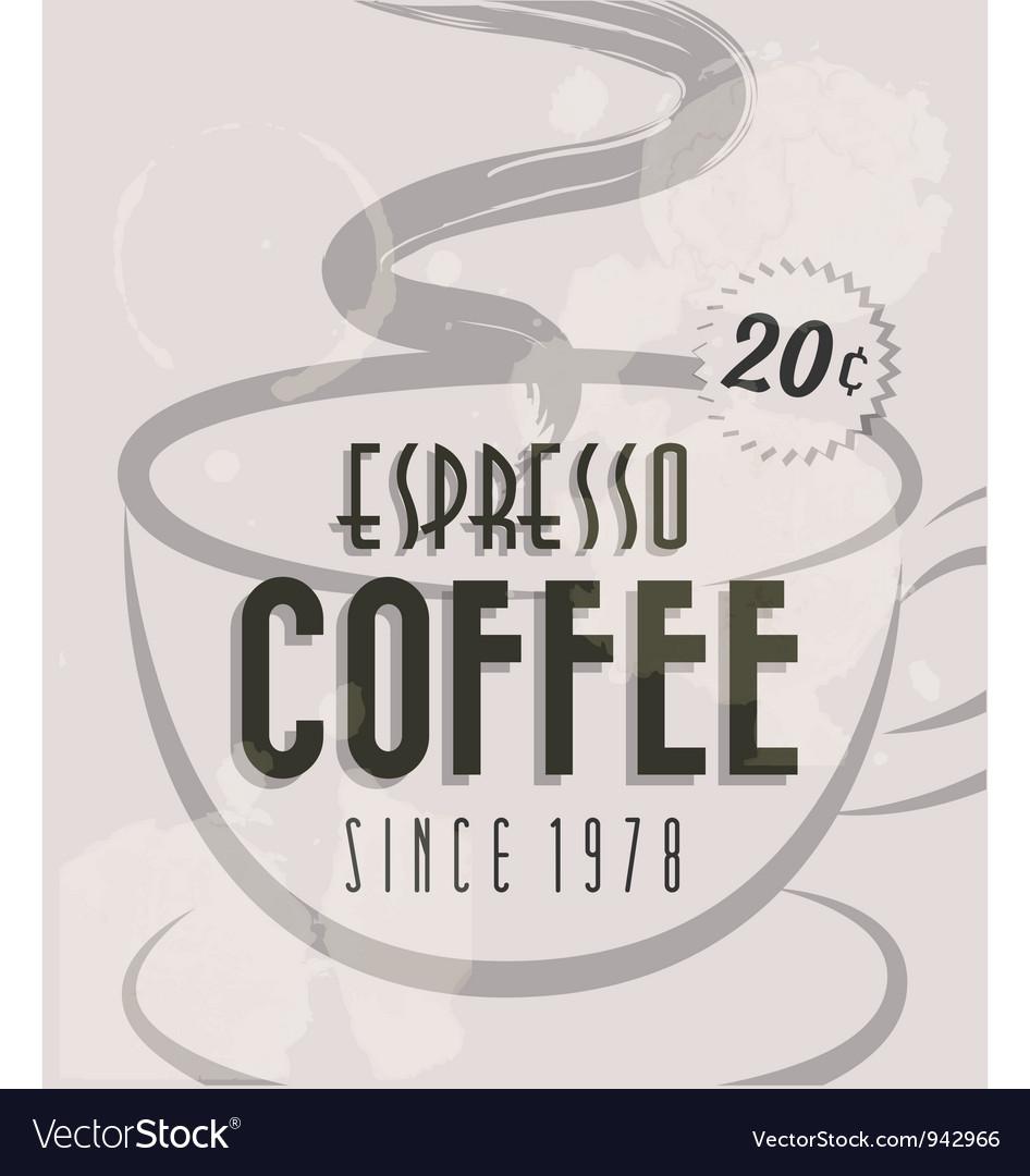 Retro Vintage Coffee Tin Sign vector image