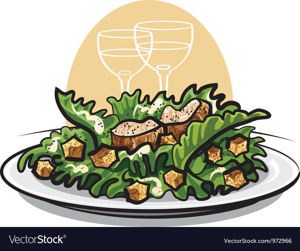 Salad caesar vector image