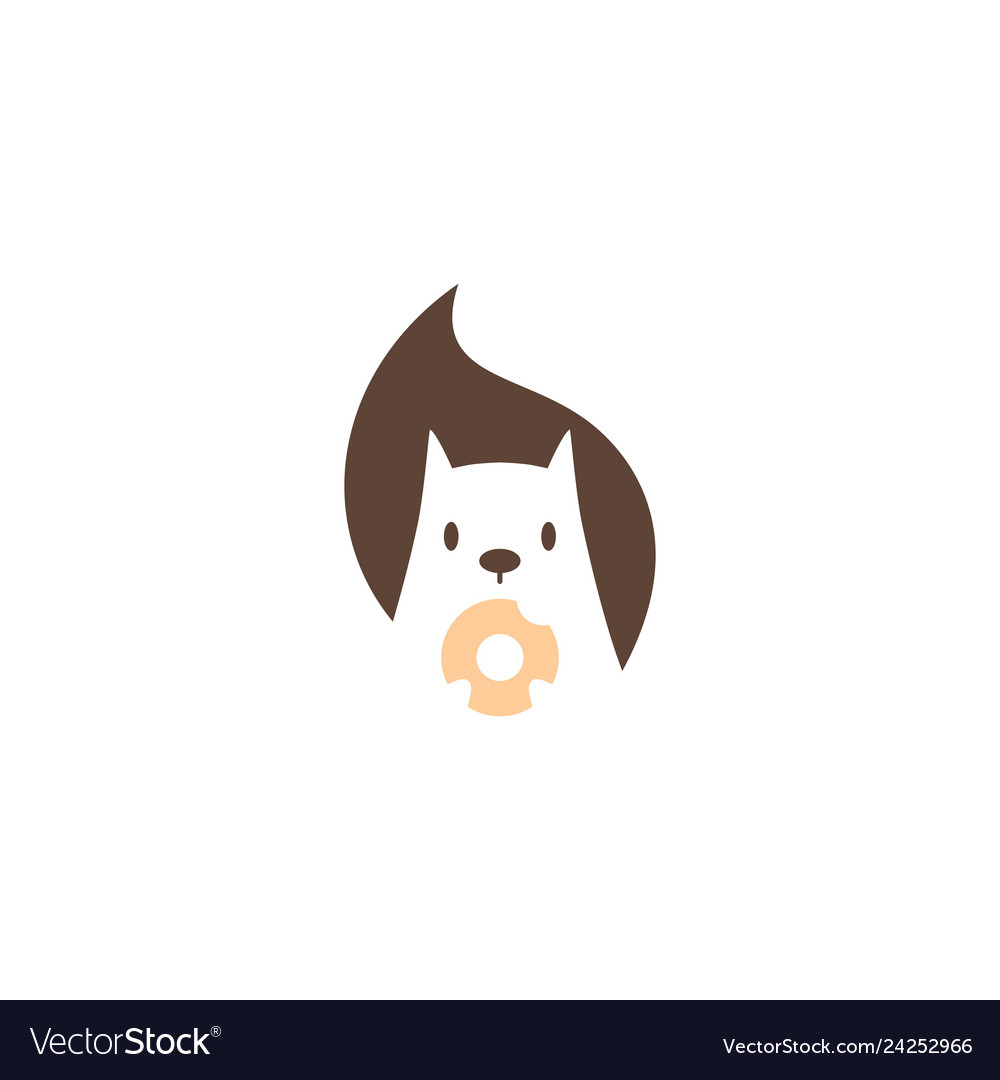 Squirrel donuts logo icon mascot character