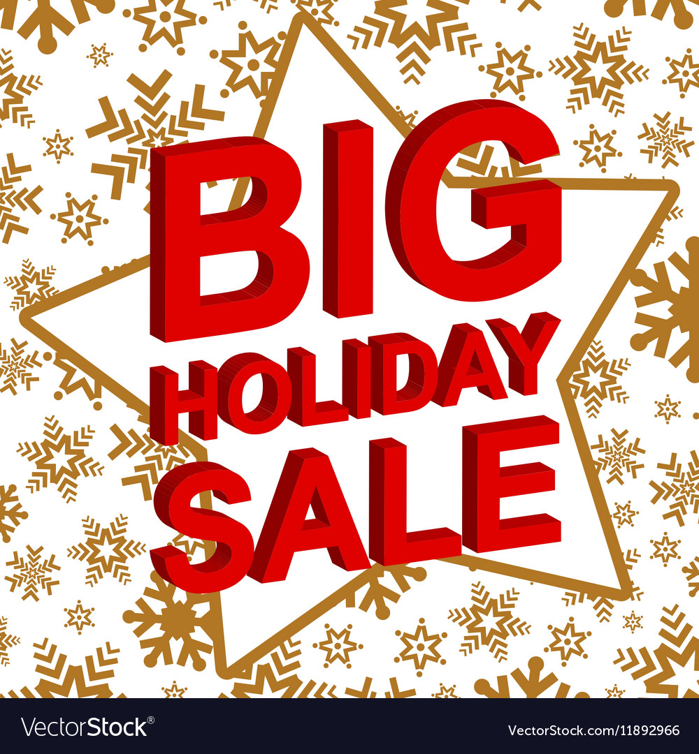 Winter sale poster with BIG HOLIDAY SALE text