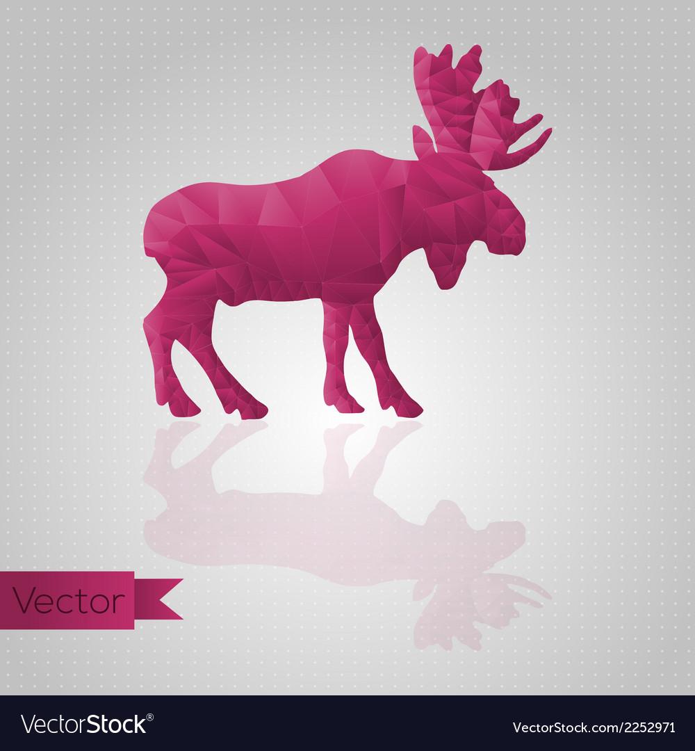 Abstract triangular moose