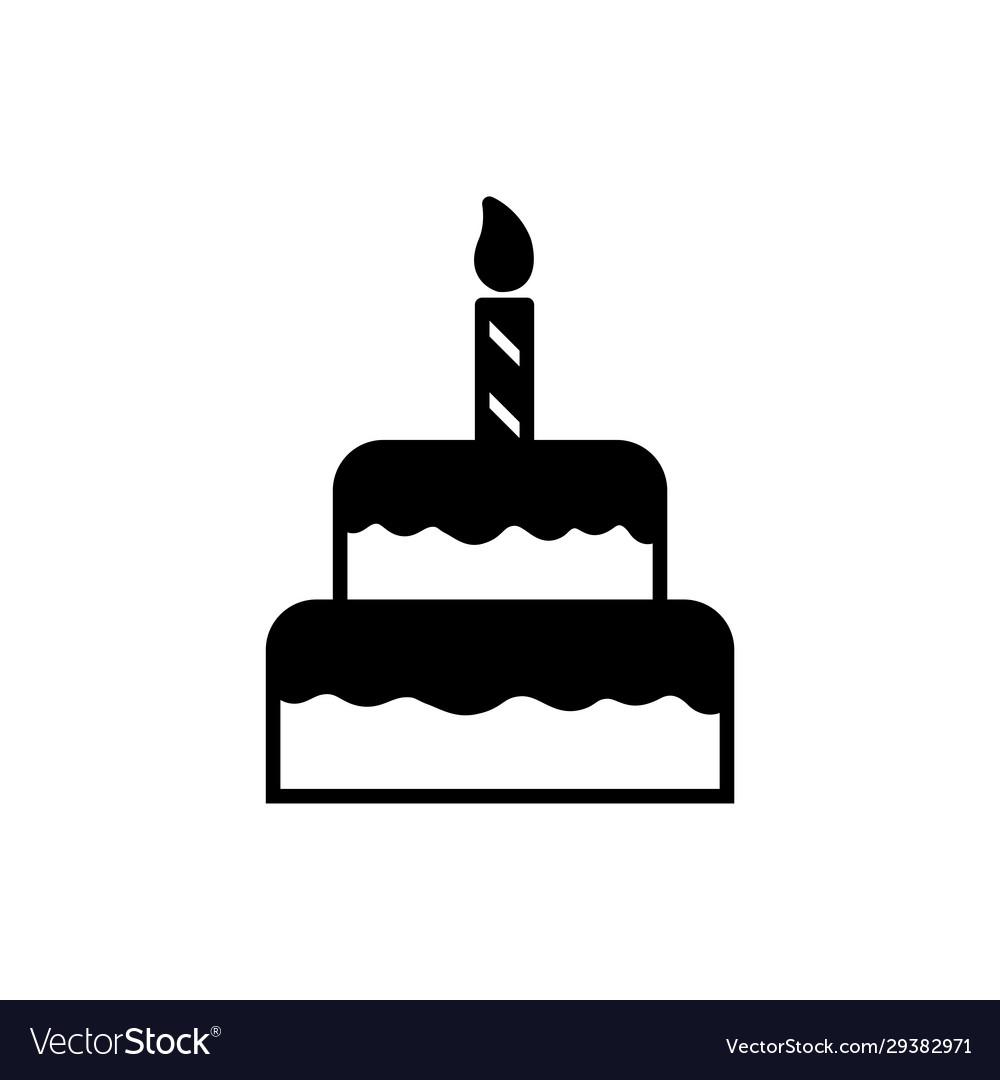 Prime Cake Birthday Cake Icon Design Template Vector Image Funny Birthday Cards Online Inifodamsfinfo