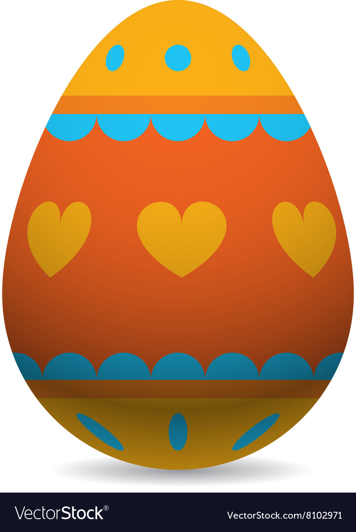 Color Easter Egg Cartoon Spring Decoration And Vector Image - Color-easter-eggs