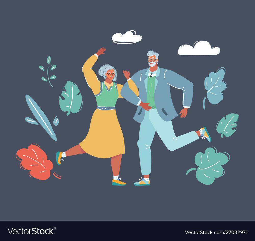 Couple dancing swing