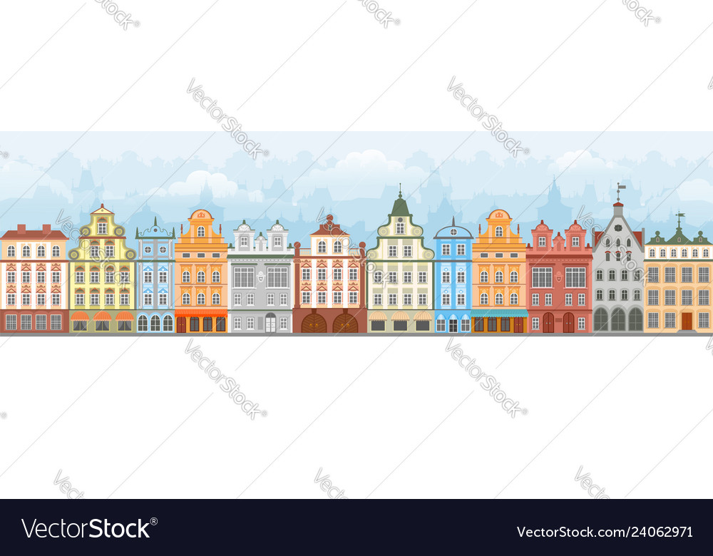 European cityscape seamless