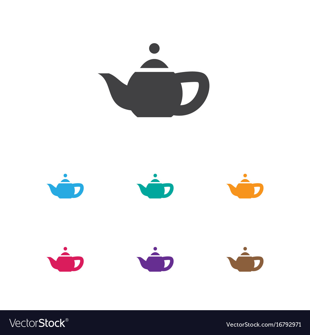 Of cook symbol on teapot icon