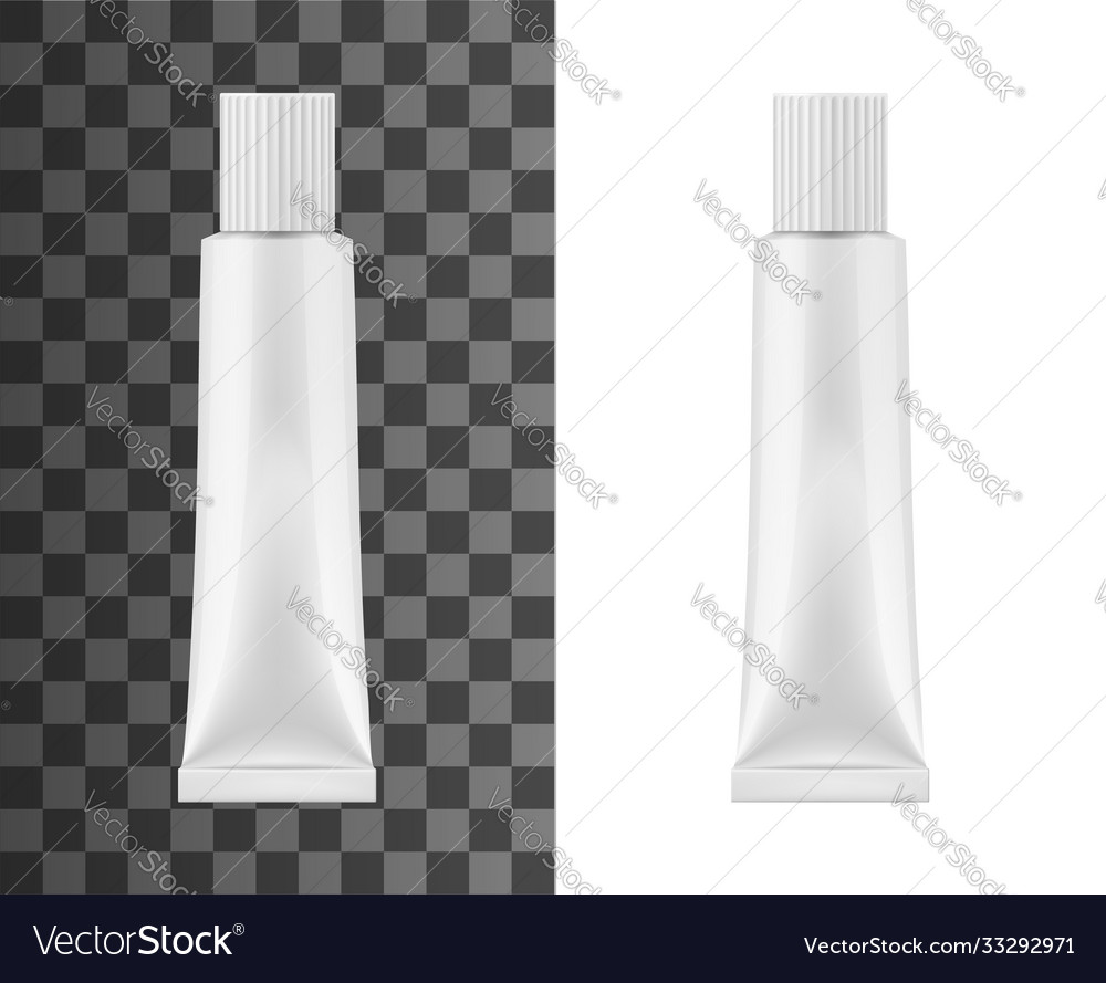 Ointment metal tube isolated blank mockup