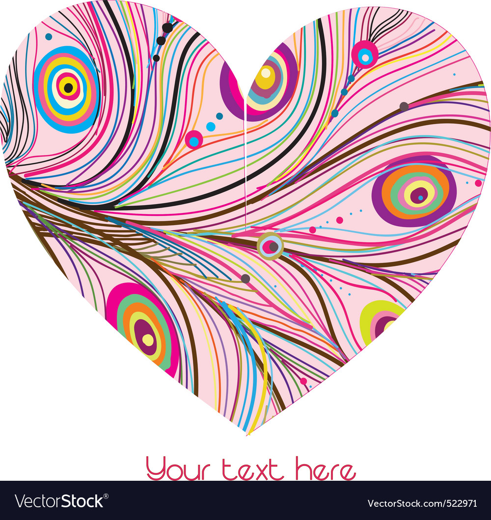 Vector abstract heart