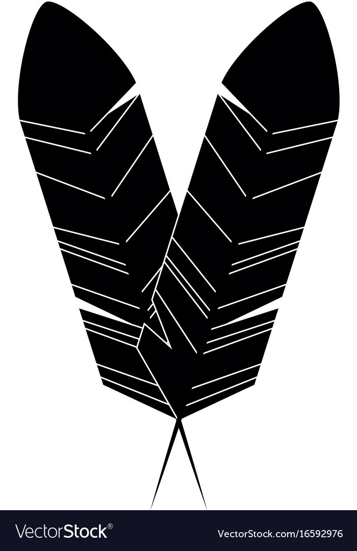 Bird feather symbol