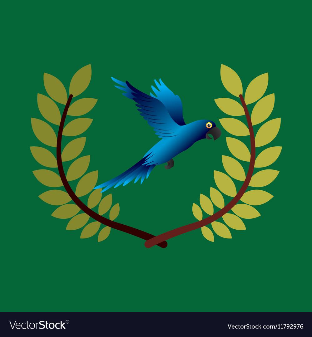 Blue macaw brazil olympic games emblem