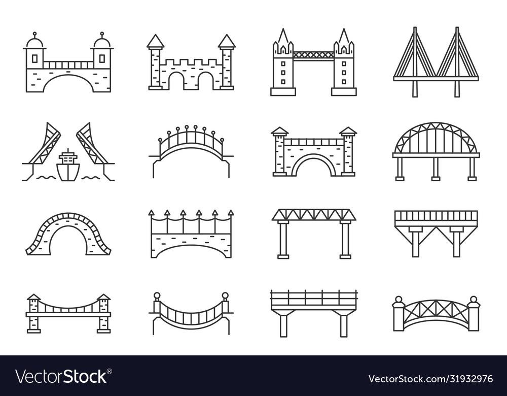 Bridge silhouette drawbridge viaduct aqueduct