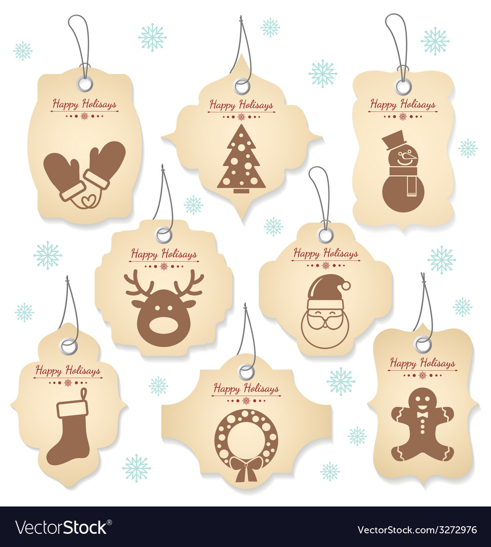 Christmas tag labels