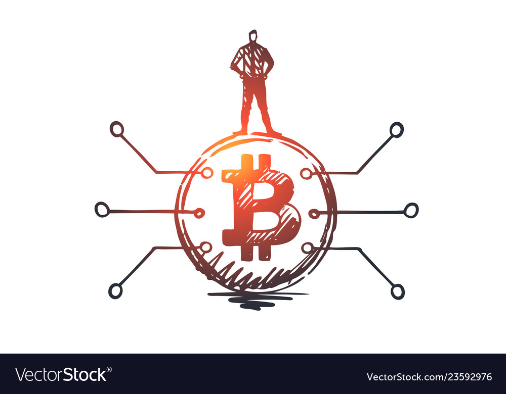 Cryptocurrency digital finance coin concept