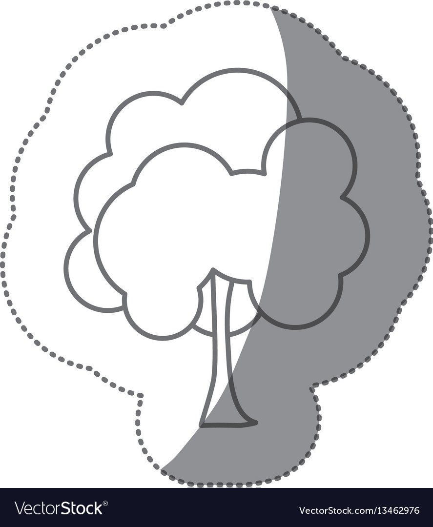 Figure stamp natural tree icon vector image
